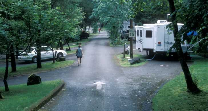 RV camping at Ainsworth