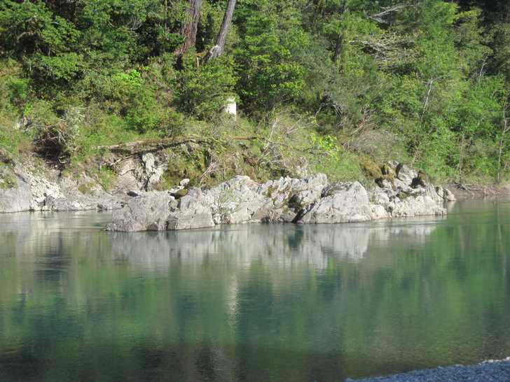 Chetco River mid-stream rock