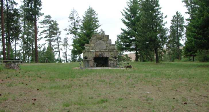 The Civilian Conservation Corps built the granite fireplace