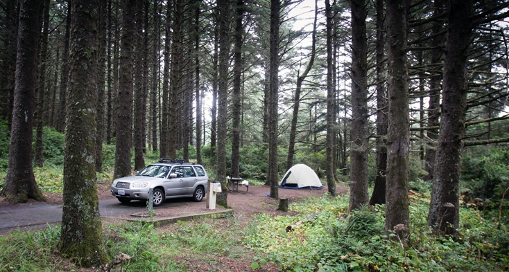 The campground has 52 sites with lots of trees and privacy.