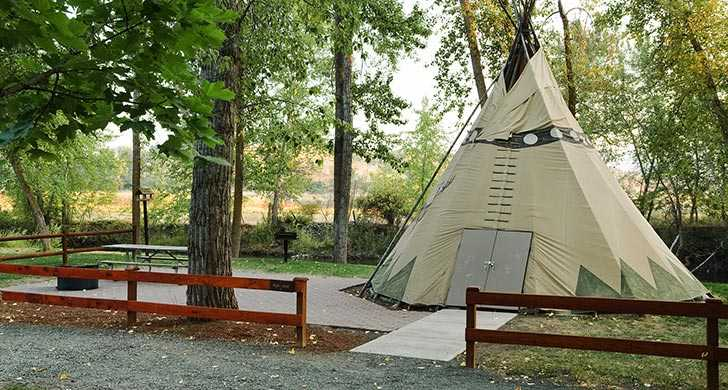 Tepee in the campground