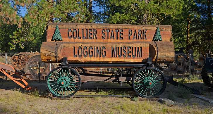 Collier Logging Museum Park Entrance