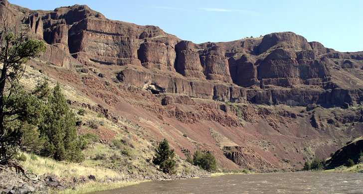 John Day River cliffs