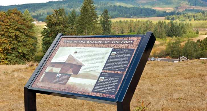 Fort Yamhill interpretive panel