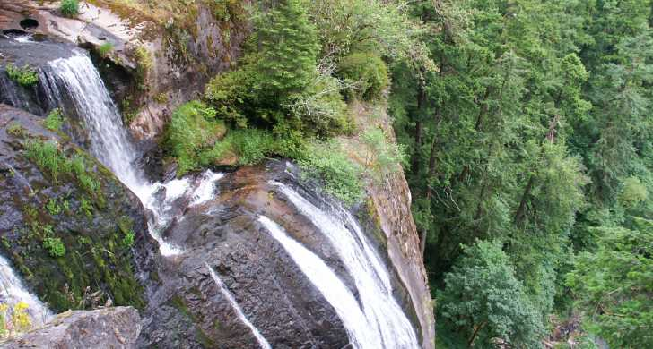 Golden And Silver Falls State Natural Area Oregon State Parks - Waterfalls in oregon map
