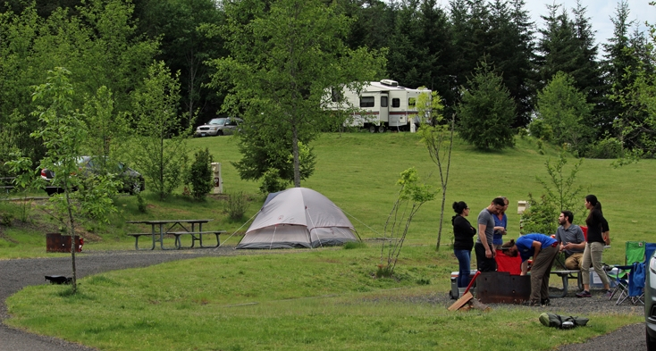 Enjoy full hook-up campsites (water/sewer/electric) in the Dairy Creek East and West campground loops.