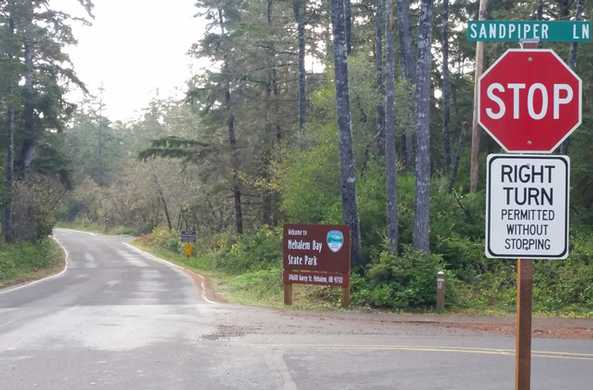 Garey Street entrance to Nehalem Bay State Park
