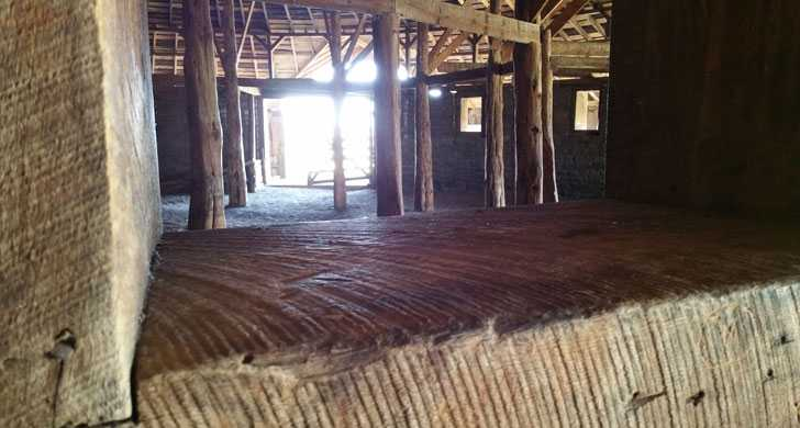 Pete French Round Barn interior circle