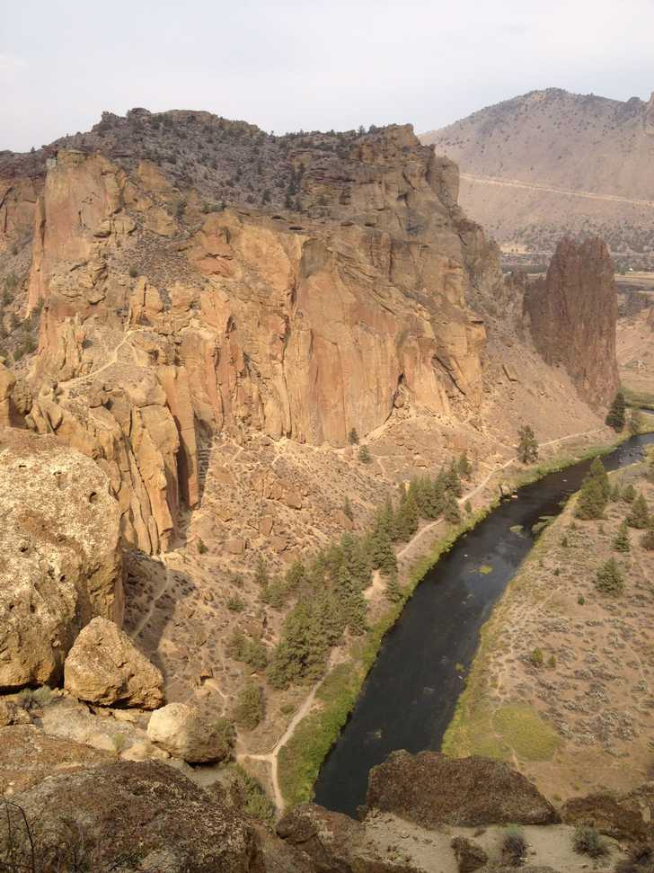 Climber's view of river and canyon