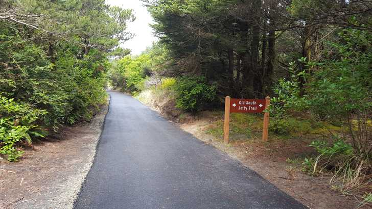 The 1/2 mile trail to the beach