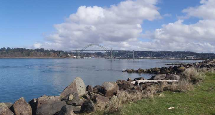 View of Yaquina Bay and bridge