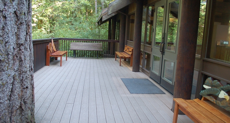 Back deck at Visitor Center.
