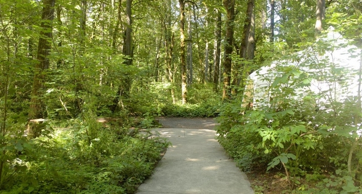 Paved trail near visitor center.