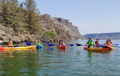 The Cove Palisades offers guided kayak tours